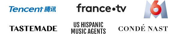 Tencent - France-TV - 6M - Tastemade - US Hispanic Music Agents - Conde Nast